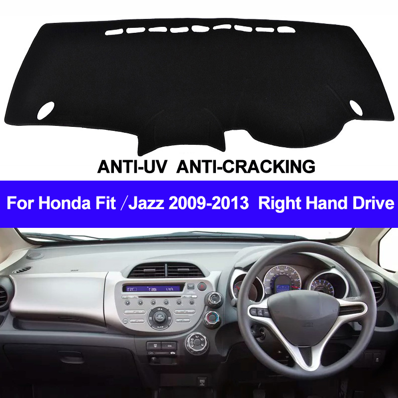 TAIJS Car Dashboard Cover For Honda Fit Jazz 2009 2010 2011 2012 2013 Right Dash Mat Dash Pad DashMat Carpet ANti-UV NON-Slip