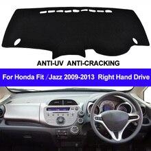 TAIJS funda para salpicadero de coche, alfombrilla para tablero derecho para Honda Fit Jazz 2009 2010 2011 2012 2013