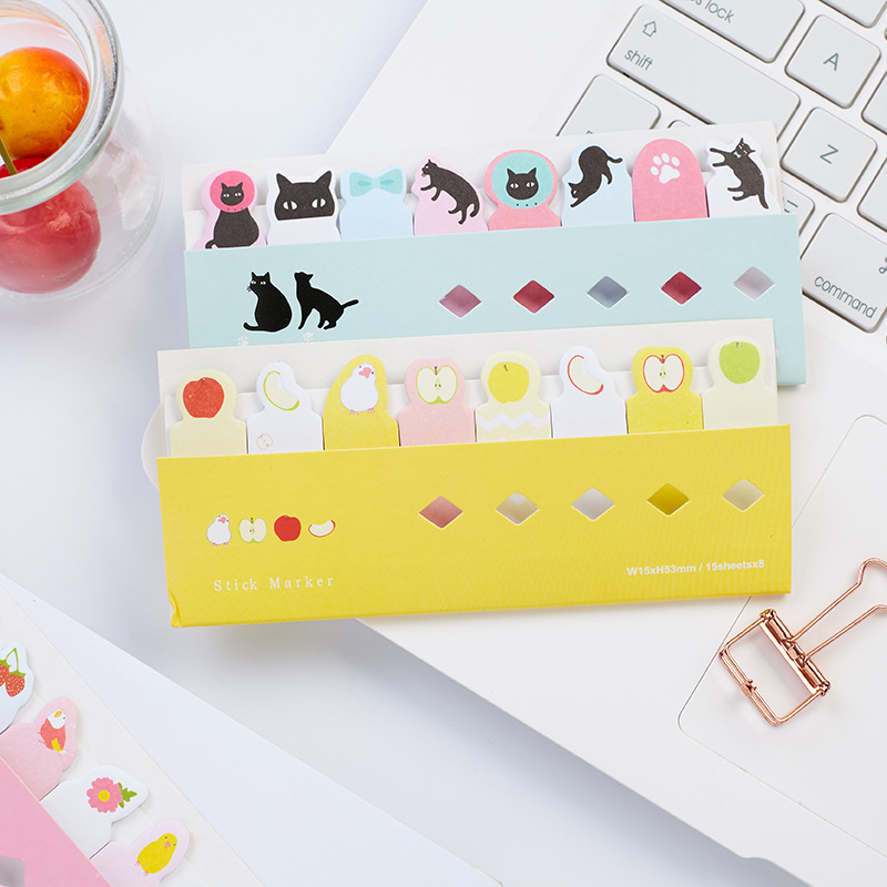 40 pcs/Lot Cute cat dog post note Animal index marker Diary stickers scrapbooking Office agenda planner School supplies F730