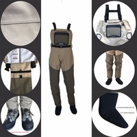 New Light Weight Feather Fishing Wader Additional Durability In 4 Size Fly Fishing Breathable Wader Vadeador