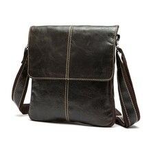 Bolsa de piel de vaca de primera capa 100% de cuero auténtico para hombre, Estilo Vintage, bolso de negocios para hombre, bolso de viaje para tableta y PC
