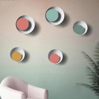 Creative Macaron Colorful Wall Lighting Fixture Nordic Lunar Eclipse Wall Lamp Iron Moon Wall Mounted Living Room Bedroom Lamp