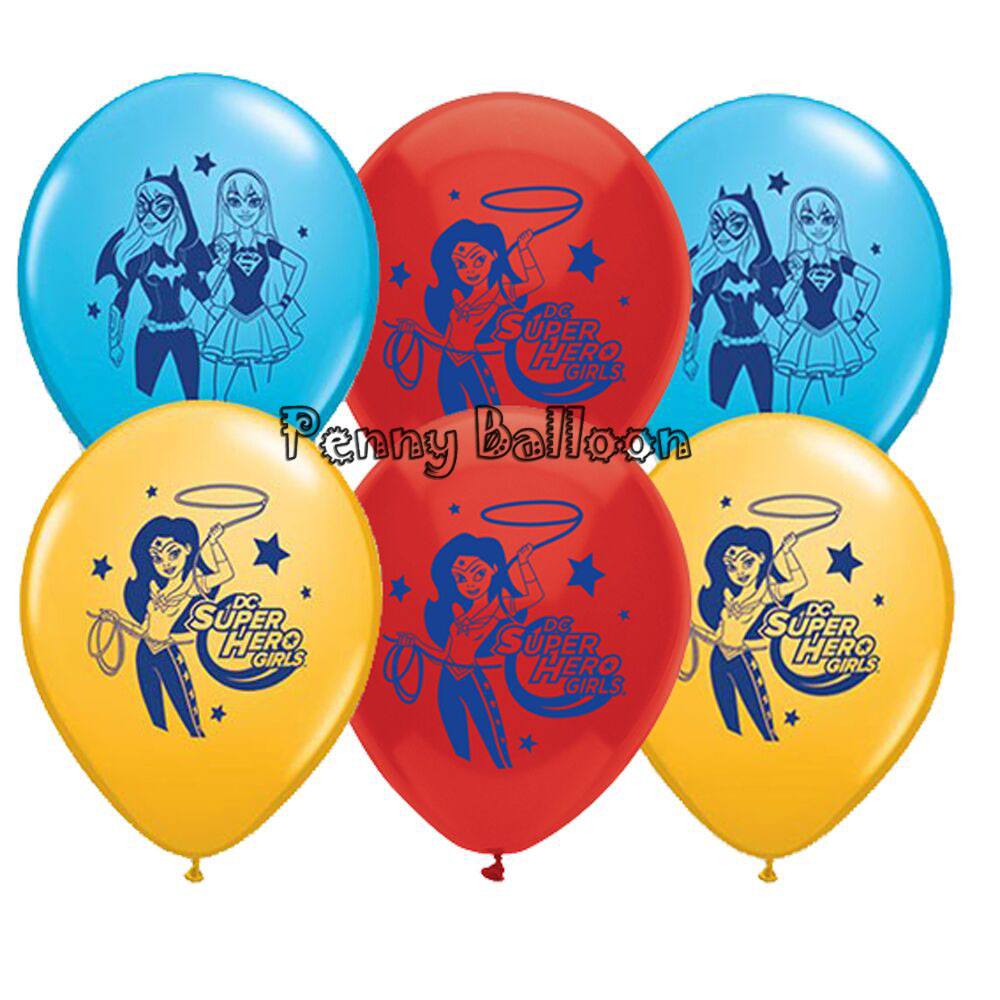 New 9pcs/lot Wonder Woman Latex Balloons Happy Birthday Party Decorations Kids Toys Inflatable Helium Balloon