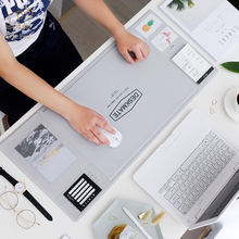 Large Mice Pad Office Computer Desk Mat Modern Table Waterproof PVC Laptop Cushion Multifunction Large Mouse Pad with Calendar