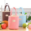 New Women Lunch Bags Round Thermal Insulated Lunch Box Cooler Bag Tote Bento Pouch Lunch Container Portable Picnic Tote Pouch