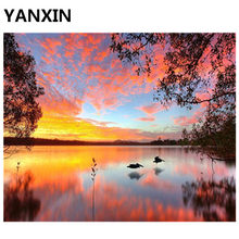 YANXIN DIY Frame Painting By Numbers Oil Paint Wall Art Pictures Decor For Home Decoration(China)