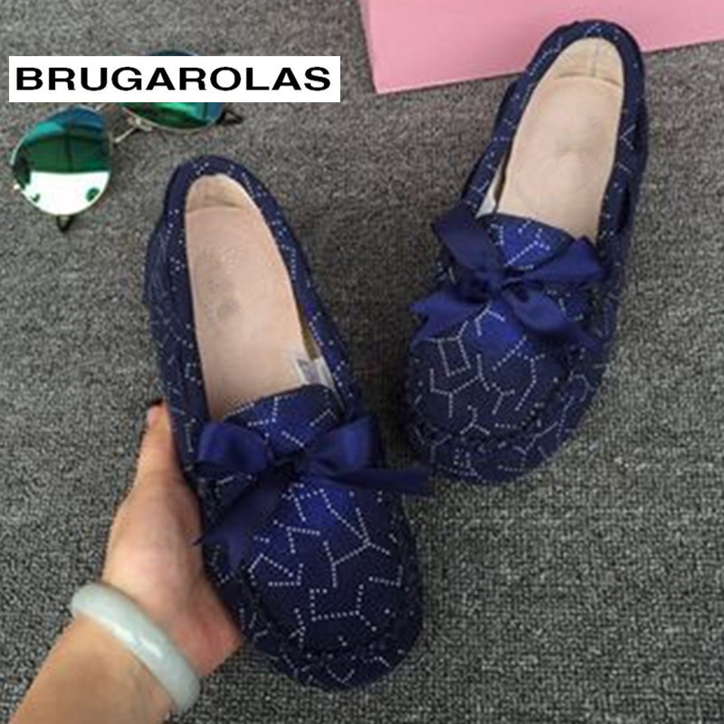 BRUGAROLAS - Spring Autumn 100% Genuine Leather Women Flat Shoes Handmade Flats Lady Driving Casual Shoes Soft Moccasins Loafers genuine leather handmade women shoes vintage spring and autumn women shoes flat shoes low top casual shoes free shipping