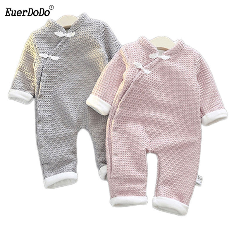 New Chinese Style Newborn Baby Boy Girl Jumpsuit Infant Romper Bodysuit Outfits