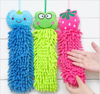 Lovely Cartoon Hanging Hand Dry Towel Kitchen Bathroom Office Car Cleaning Cloth Microfiber Fabric Quick Dry