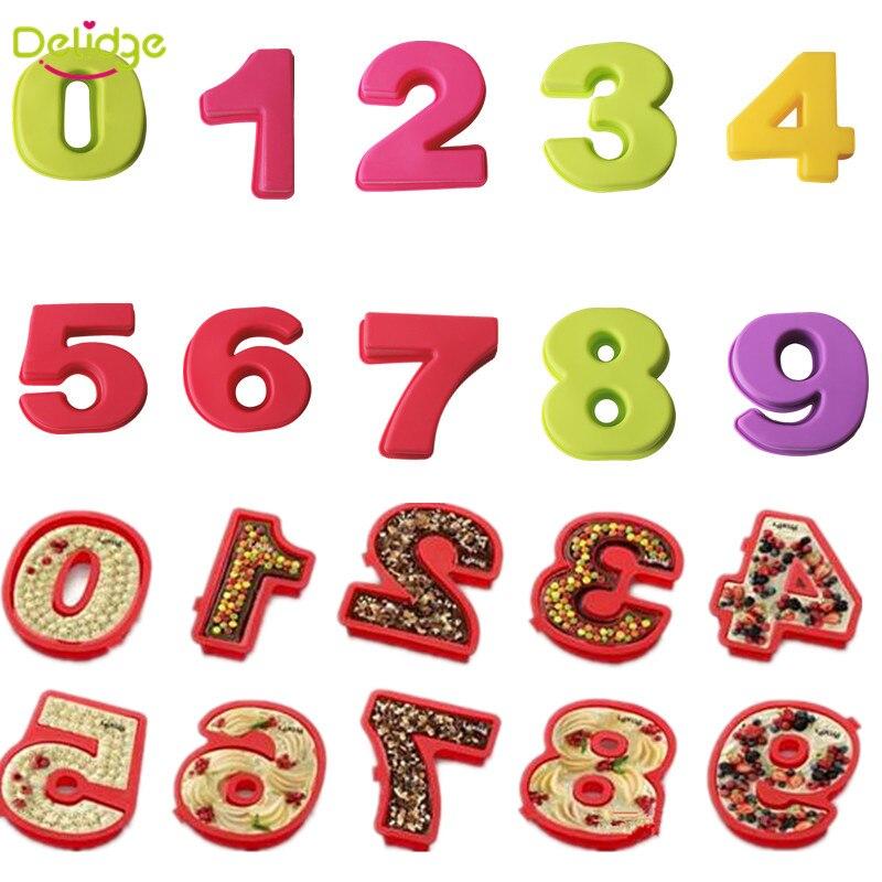 Delidge 10 Teile Satz 0 9 Zahlen Kuchenform Diy Silikon Stick Muffin