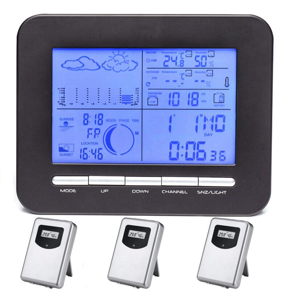 Orų stoties skaitmeninis barometro laikrodis su termometru - Matavimo prietaisai - Nuotrauka 2