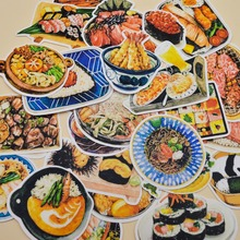 28pcs Self-made Japanese Sushi Sashimi food sticker decoration dry glue paper sticker /hand book Diary stationery Sticker