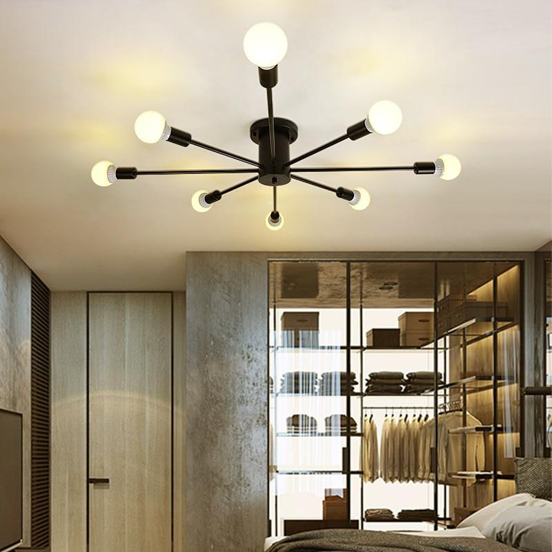 Licht & Beleuchtung Deckenleuchten Vintage Decke Lichter Für Home Beleuchtung Leuchte Mehrere Schmiedeeisen Decken Lampe Wohnzimmer Lamparas De Techo