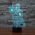 2016 The Avengers Iron Man Deadpool 3D Led tabel lamp flash toy New SuperHero TMNT Batman 7 color visual illusion LED lights