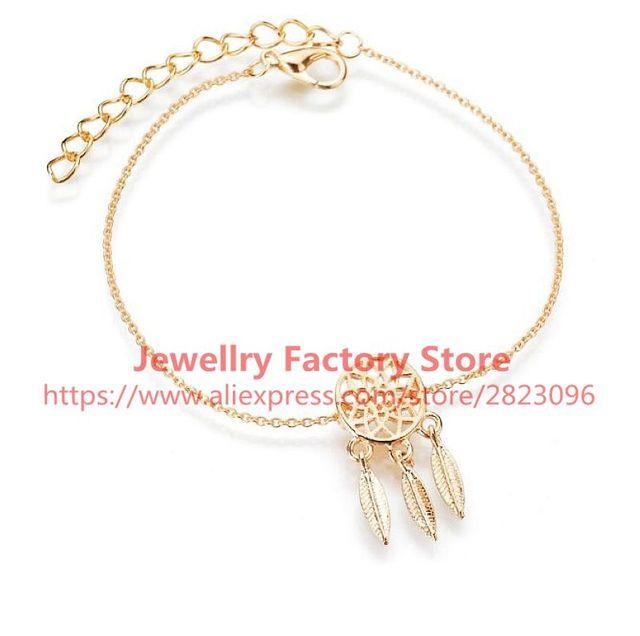 40pcslot Gold Color Dream Catcher Bracelet Cheap Price Lady Girl Extraordinary Dream Catcher Gold Bracelet