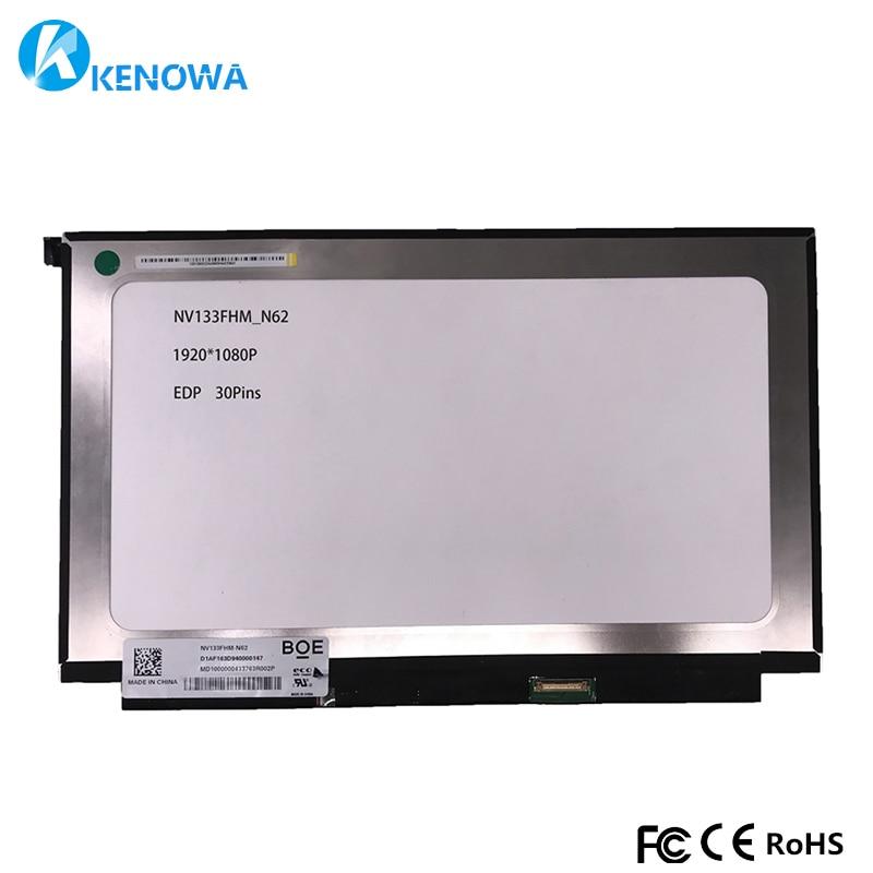 13.3 Slim LED Screen Inch NV133FHM-N62 NV133FHM N62 NV133FHM N6 LCD Display Panel eDP 30pins 1920*1080 1080P13.3 Slim LED Screen Inch NV133FHM-N62 NV133FHM N62 NV133FHM N6 LCD Display Panel eDP 30pins 1920*1080 1080P