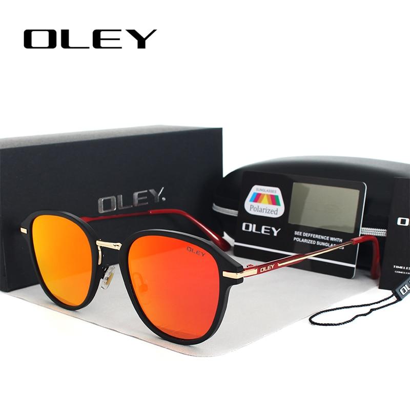 OLEY Rétro Ronde lunettes de soleil femmes marque designer polarisées cat eye lunettes de soleil pour femme shades conduite gafas de sol mujer 2017