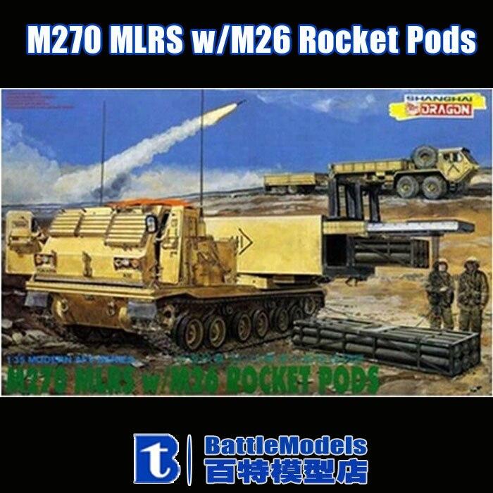 DRAGON 3523 1//35 U.S M270 MLRS w//M26 ROCKET PODS