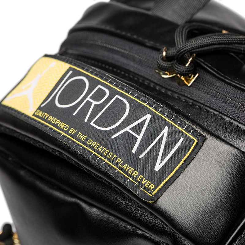 Original New Arrival Authentic Nike Air Jordan 12 AJ12 Black Gold Backpacks  Men s   Women s Shoulder Bags Sports Bags 9A1773 429-in Training Bags from  ... d881cb2bcbedf