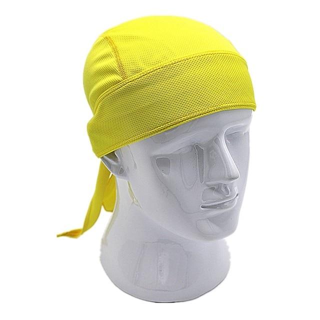 Outdoor Quick Dry Pure Cycling Cap Head Scarf Headscarf Headband Summer Men Running Riding Bandana Ciclismo Pirate Hat Hood 4