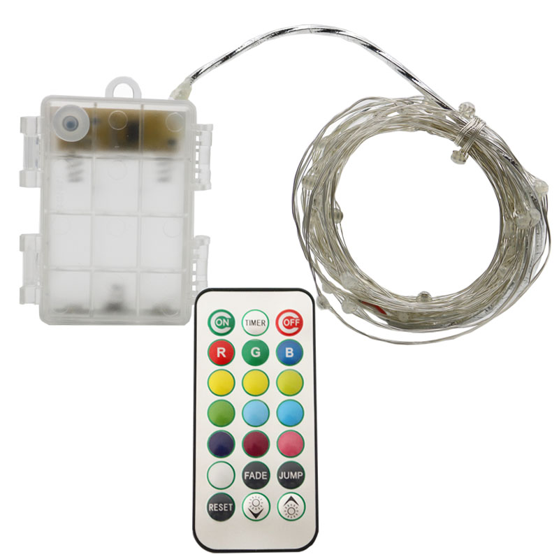 HarrisonTek 13 Colors RGB Holiday Lights Battery Remote Control LED Twinkle Lights Garden Party Christmas Lights Indoor Oudoor