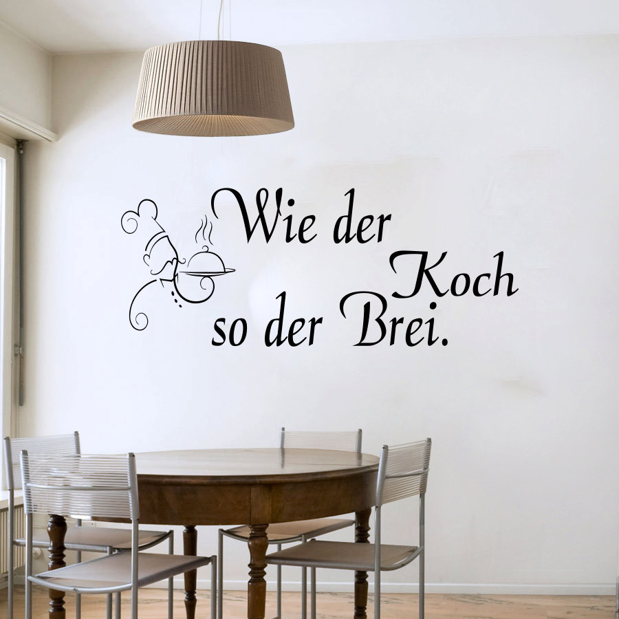 As The Chef So The Mash German Wall Sticker Pvc Removable Cartoon Pattern Home Decor Wall