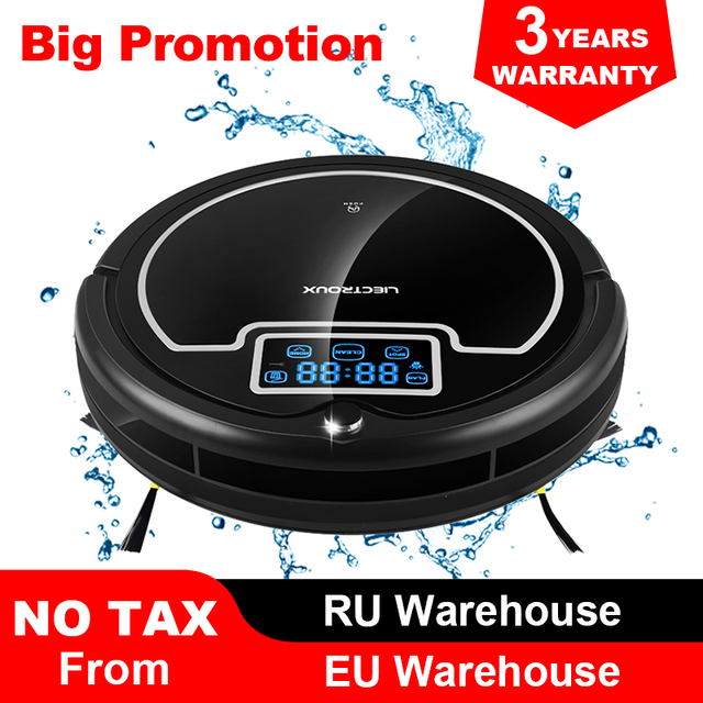 $ US $160.54 (Free Shipping to All, Fast Delivery) Robot Vacuum Cleaner with Water Tank,Wet&Dry,TouchScreen,Big Mop,Schedule,Virtual Blocker