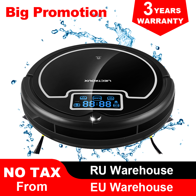 (Free Shipping to All, Fast Delivery) Robot Vacuum Cleaner with Water Tank,Wet&Dry,TouchScreen,Big Mop,Schedule,Virtual Blocker-in Vacuum Cleaners from Home Appliances    1