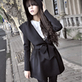 Women Spring Autumn Clothing Long Sleeve Hooded Open Stitch Coat Casual Loose Peplum Trench Coat Cardigan Poncho Outwear CL0753