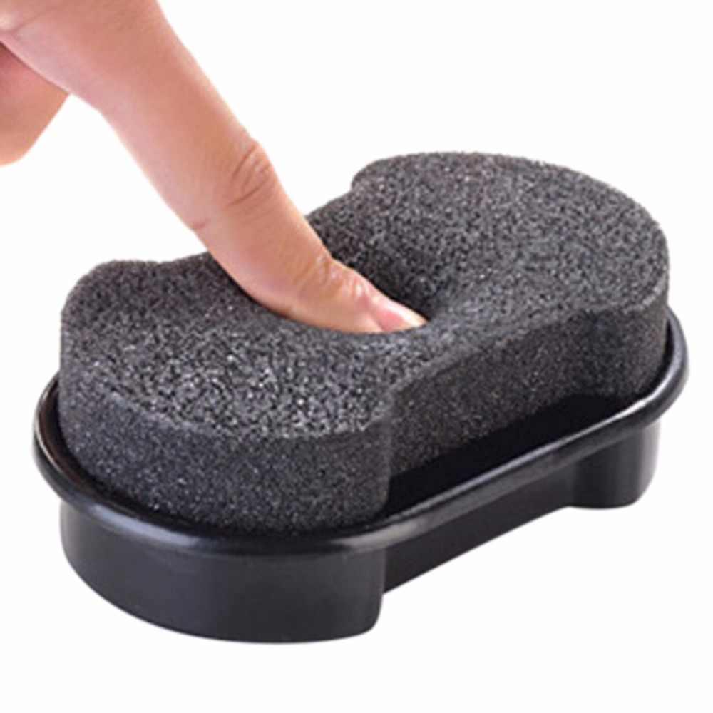 New Rápida Lustrar Sapatos Escova de Limpeza Líquido De Limpeza de Cera De Polimento De Couro Brilhando Esponja Polidor de Sapato Bota Sofá Saco 1 Pcs