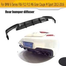 6 серий карбоновый задний диффузор для губ BMW F06 F12 F13 M6 M спортивный бампер 2012-2016 трансформер 640i 650i