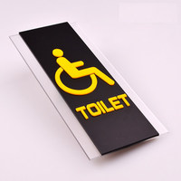 Custom Made Quality Door Plate Sign Plate Indicator For Toilet Rest Room Washroom Acrylic Creative Design