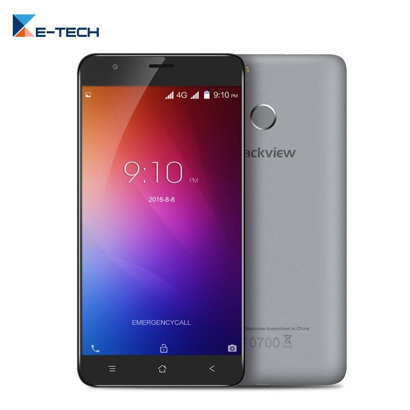 "bilder für Original Blackview E7 Smartphone 4G LTE 5,5 ""bildschirm MTK6737 Quad Core Android 6.0 1 GB RAM 16 GB ROM 8MP Fingerabdruck Handy"