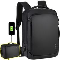 Best Professional Men Business Backpack Travel Waterproof Slim Laptop Backpack School Bag Office Men Backpack Bag Leather