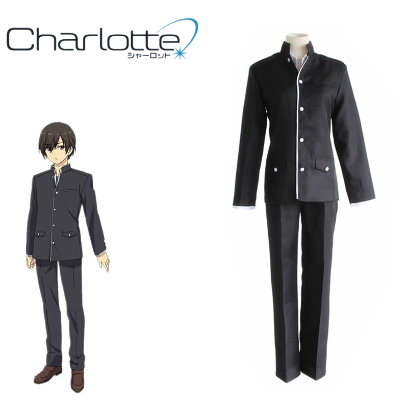 Inventive Anime Charlotte Cosplay Costumes Tomori Nao Shcool Uniform Yuu Otosaka Cosplay Costumes Halloween Party Unisex Cosplay Women's Costumes