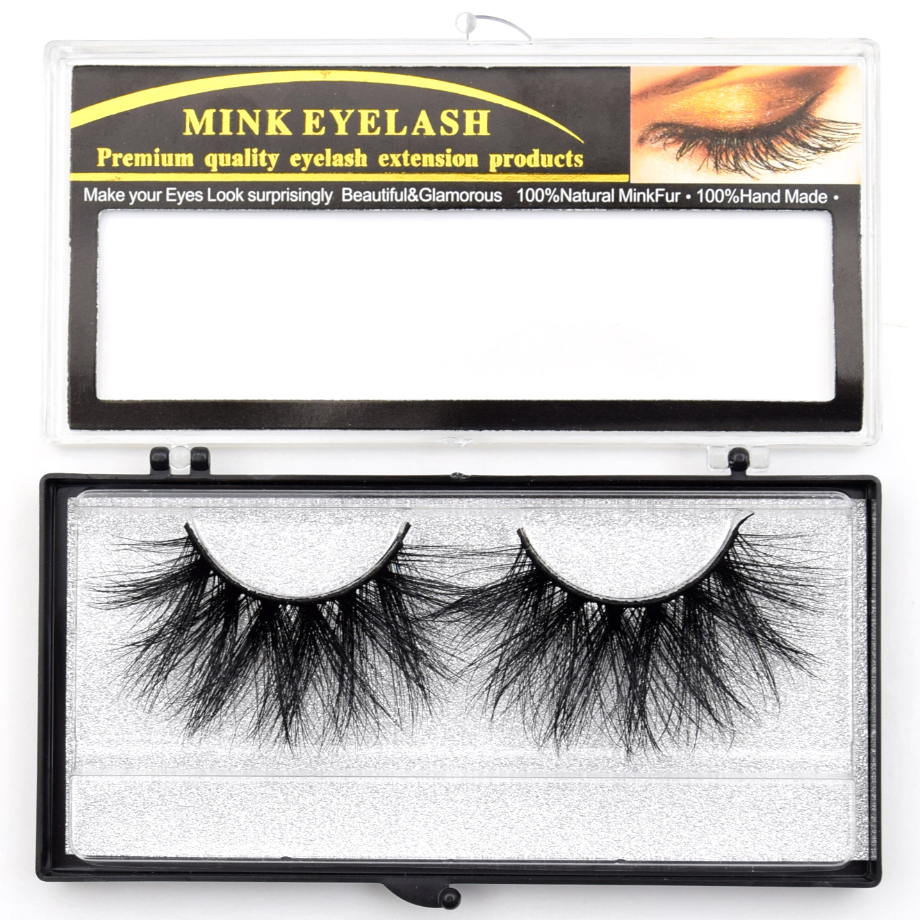 Visofree Eyelashes 25mm Lashes 3D Mink Lashes 27mm Lashes Strip Lashes Handcrafted 100% Cruelty-free False Eyelashes Makeup E58