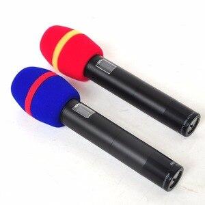 Image 2 - WS 01 çeşitli renkler kalınlaşmak formu profesyonel mikrofon ön camları Mic kapak koruyucu ızgara kalkan yumuşak sünger kap