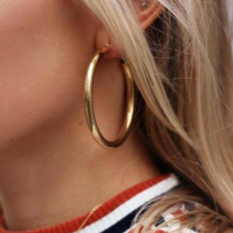 Euramerican מעטרים מאמר עכשווי רוח זהב argent טבעת אופי אישי exaggerates חלול את עגיל