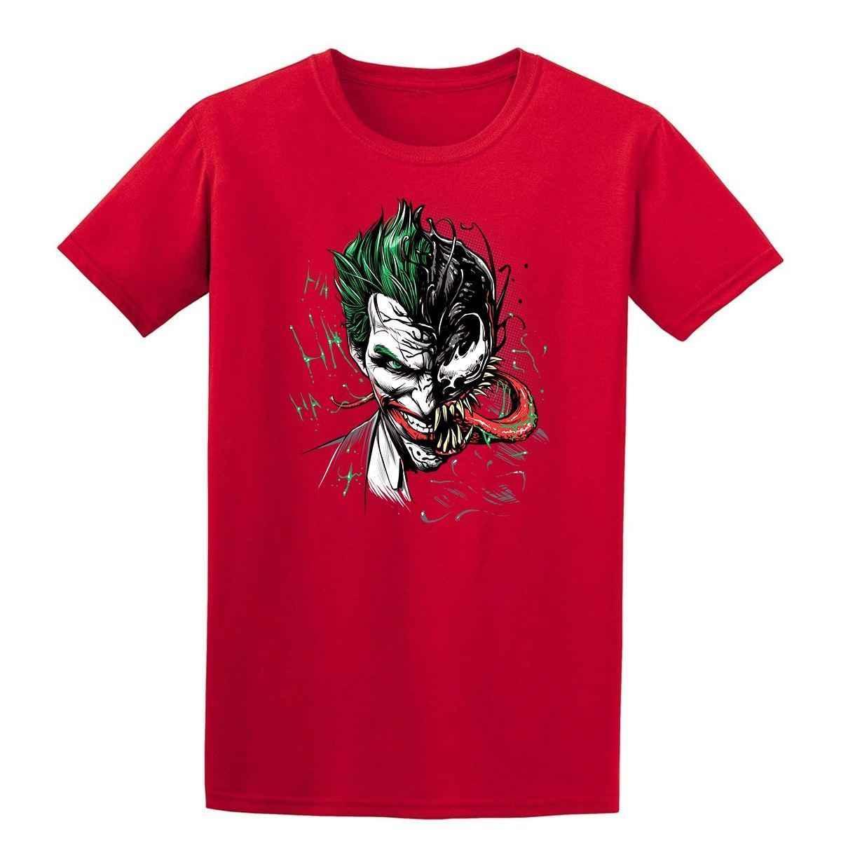 Venom Джокер Хэллоуин ужас Мужская футболка 2019 модная футболка, 100% хлопок футболка, Повседневная принтованная футболка, хип хоп забавная футболка