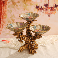 Creative retro decorative fruit plate home jewelry decoration grid tray coffee table decoration dried fruit plate lo93230