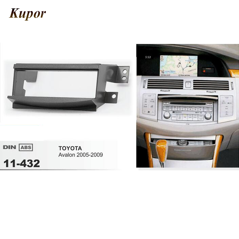 11-432 Car Radio Fascia For TOYOTA Avalon 2005-2009 Stereo Fascia Dash CD Trim Single 1 Din 182*53mm Installation Frame Kit image