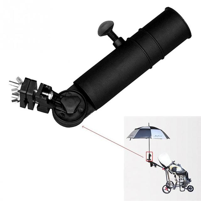Universal Black Golf Cart Umbrella Holder Stand For Buggy Cart Baby on wheelchair stand up and play, courtesy cart, grocery cart,