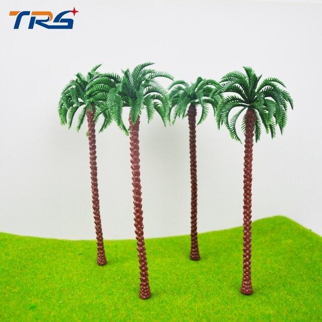 16cm miniature Architecture Plastic Palm Tree Model Miniature scale Palm Tree for sea scenery