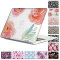 Encaje floral rose imprimir patrón duro cristalino claro para macbook pro 13 15 con/no Toque Bar Aire 13 11 Pro 13 15 Retina Disply