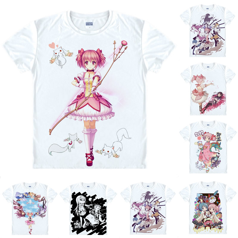 Coolprint Anime Shirt Puella Magi Madoka Magica T-Shirts Short Magical Girl Madoka Magic ...