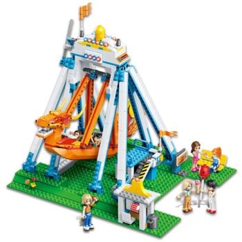 780pcs dragon boat building blocks friends bricks compatible friends Assembling block figures amusement park bricks toys for kid