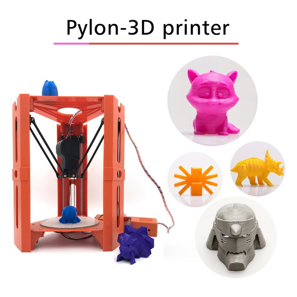 Mini 3D Imprimante 1.75mm 0.4mm Buse Filament de Métal Bureau Impresora 3D Imprimante DIY Kit DV Versions Drop Shipping 3d printe