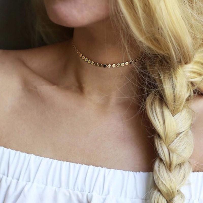 HTB1k.ECNVXXXXXCXFXXq6xXFXXXm Women's Copper Sequin Vintage Choker Necklace