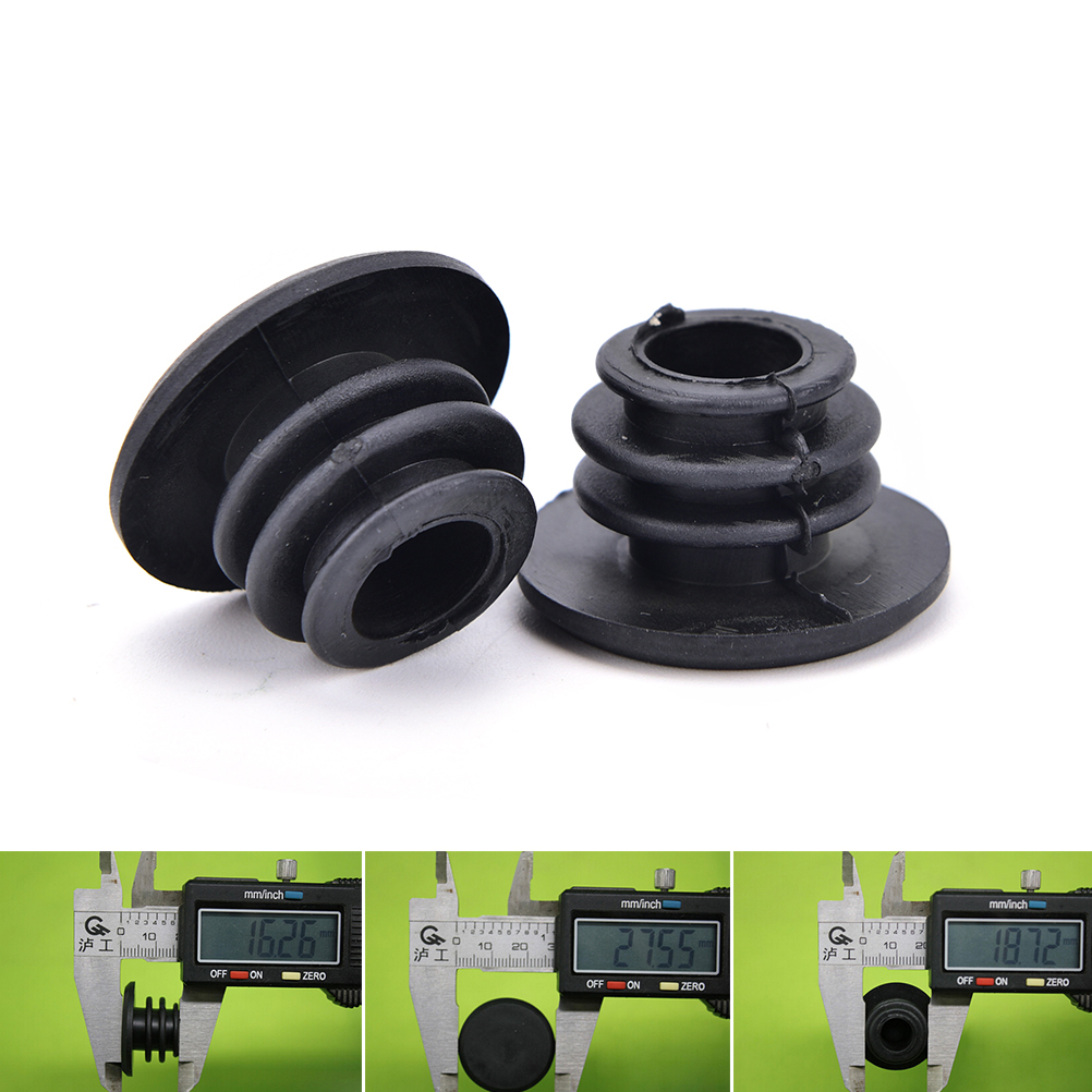 1 Pair Bike MTB Mini Rubber Grip Handlebar Bar End Plugs Stoppers Caps W