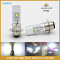 P15D Motorcycle Led Headlight 1200LM 20W High Low Beam Fit most Motorcycle Headlamp Scooter bulb DC 6-24V negative ground